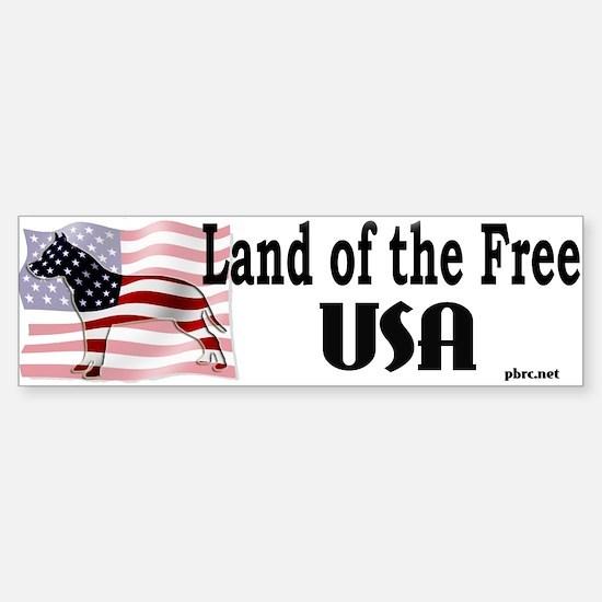 USA-Land of the Free Bumper Bumper Bumper Sticker