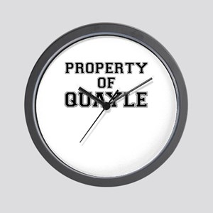 Property of QUAYLE Wall Clock