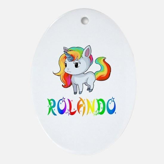 Unique Rolando Oval Ornament
