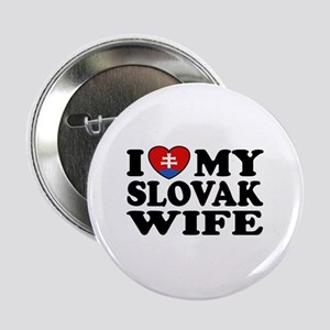 "I Love My Slovak Wife 2.25"" Button"