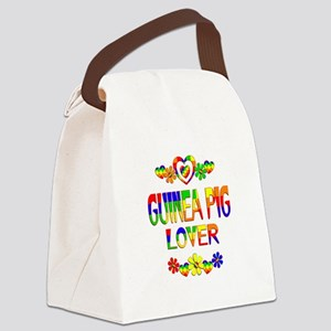 Guinea Pig Lover Canvas Lunch Bag