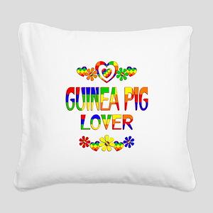Guinea Pig Lover Square Canvas Pillow