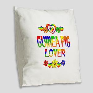Guinea Pig Lover Burlap Throw Pillow