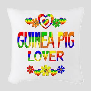 Guinea Pig Lover Woven Throw Pillow