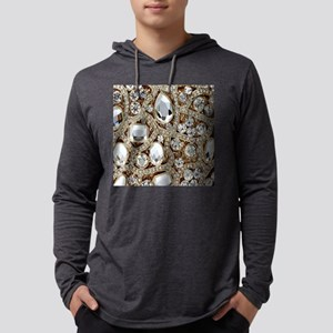 bohemian girly gold rhinestone Long Sleeve T-Shirt