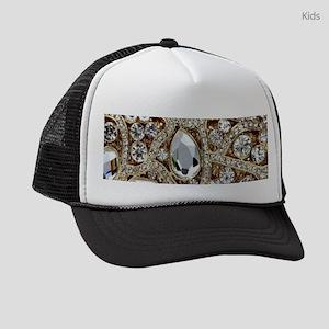 girly bohemian gold rhinestone Kids Trucker hat f7602b26812e