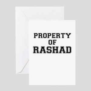 Property of RASHAD Greeting Cards