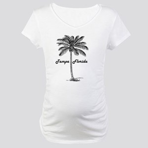 Black and White Tampa & Palm des Maternity T-Shirt
