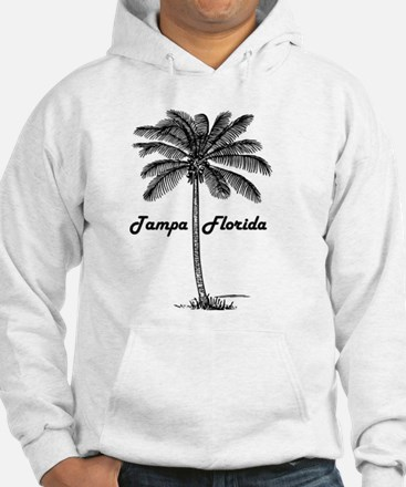 Black and White Tampa & Palm des Hoodie