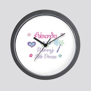 Alexandra - Mommy's Little Pr Wall Clock