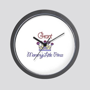 Grant - Mommy's Little Prince Wall Clock