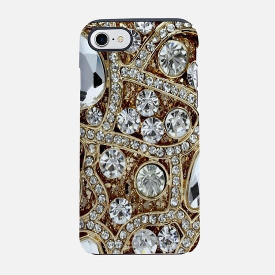 girly bohemian gold rhinesto iPhone 8/7 Tough Case