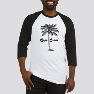 Black and White Cape Coral & Palm Baseball Jersey