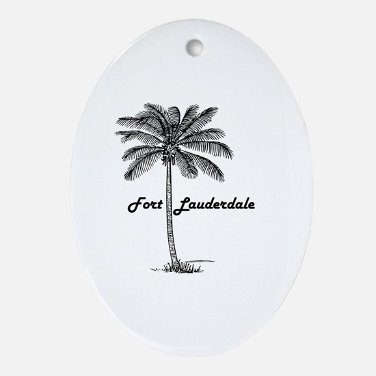 Cute Lauderdale Oval Ornament