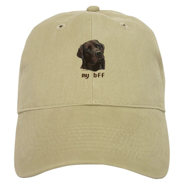 Chocolate Baseball Cap: My Bff Chocolate Lab Baseball Cap By Labrador_art