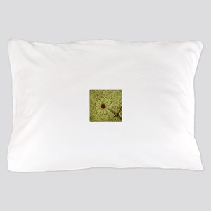 """""""Yellow Flowers"""" by Darren Camp Pillow Case"""