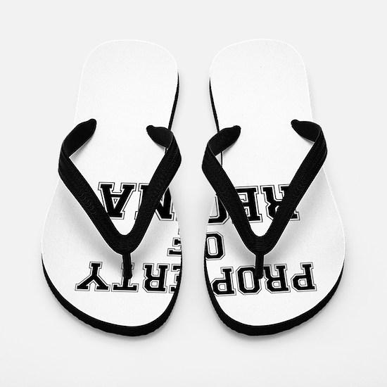 Property of REGINA Flip Flops