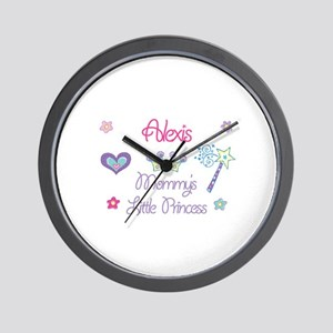Alexis - Mommy's Little Princ Wall Clock