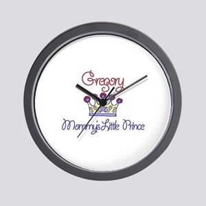 Gregory - Mommy's Little Prin Wall Clock