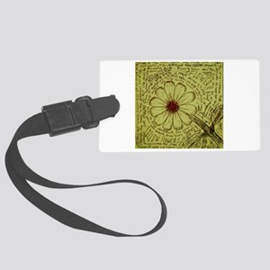 """""""Yellow Flowers"""" by Darren Camp Luggage Tag"""