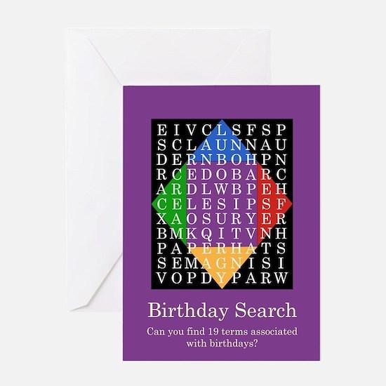 Word Search - Birthday Card