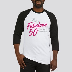 Fabulous and 50 Baseball Tee