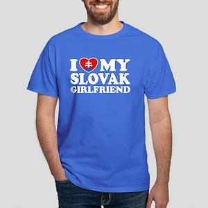 I Love My Slovak Girlfriend Dark T-Shirt