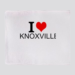I Love Knoxville Throw Blanket