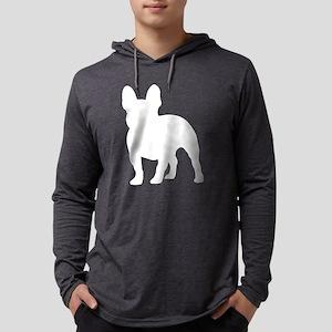 French Bulldog Silhouette Mens Hooded Shirt