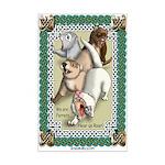 Ferret Roar Mini Poster Print