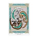 Celtic Wolves Mini Poster Print