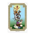 Ferret Totem Mini Poster Print