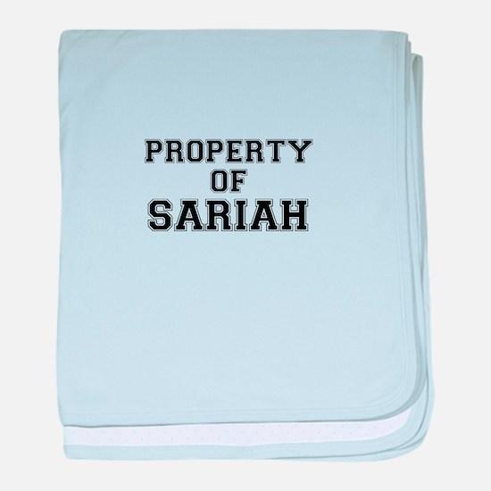 Property of SARIAH baby blanket