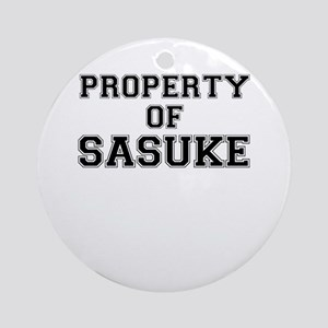 Property of SASUKE Round Ornament
