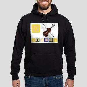 V Is For Violin Hoodie (dark)