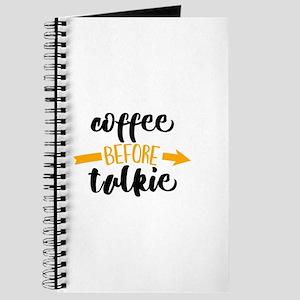 COFFEE BEFORE TALKIE Journal