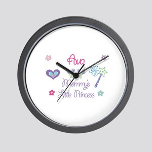 Ava - Mommy's Little Princess Wall Clock