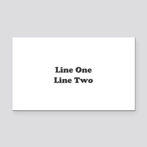 Two Line Custom Message Rectangle Car Magnet