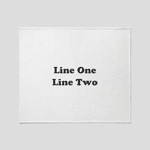 Two Line Custom Message Throw Blanket