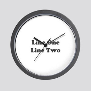 Two Line Custom Message Wall Clock