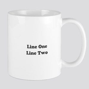 Two Line Custom Message Mugs