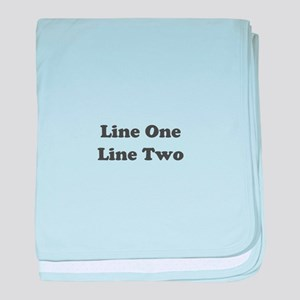 Two Line Custom Message baby blanket