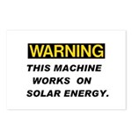 Warning:Solar Energy ! Postcards (Package of 8)