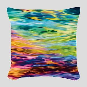 River Woven Throw Pillow