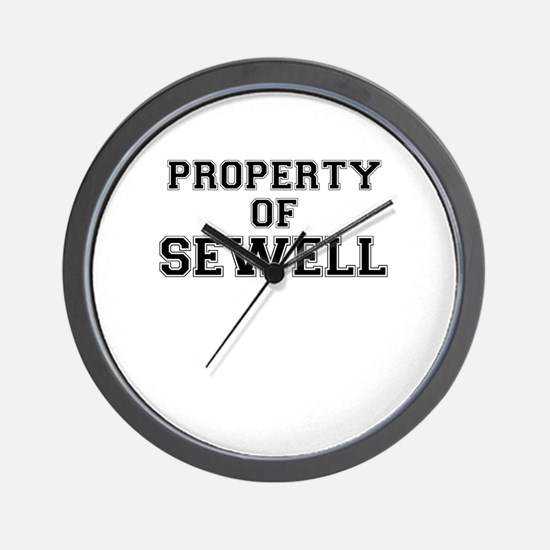 Property of SEWELL Wall Clock