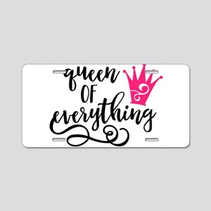 QUEEN of everything Aluminum License Plate