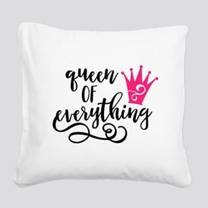QUEEN of everything Square Canvas Pillow