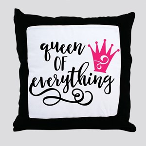 QUEEN of everything Throw Pillow