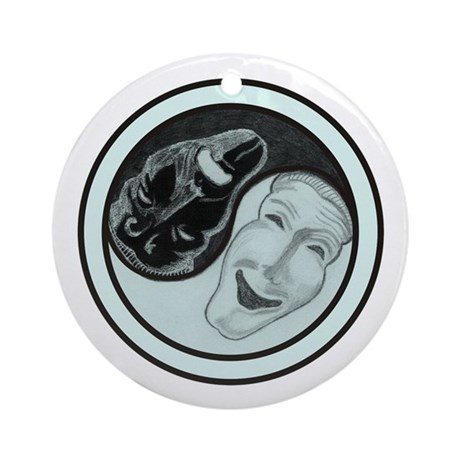 Masks Yin Yang Ornament (Round)