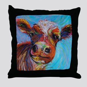 Bessie The Cow Throw Pillow